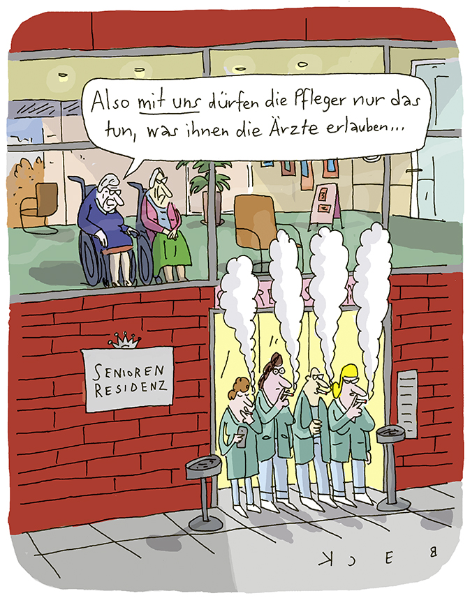 Cartoon von BECK